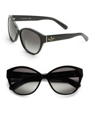 kate spade new york | Black Kiersten 56Mm Cateye Sunglasses | Lyst