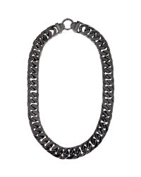Ambush - Gray Flat Curb Chain for Men - Lyst