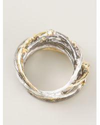 Bjorg | Metallic Big Nest Ring | Lyst