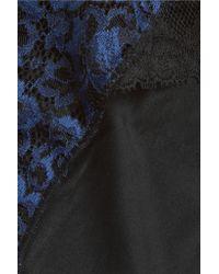 Simone Perele - Blue Simone Pérèle - Favorite Leavers Lace And Satin-jersey Briefs - Navy - Lyst