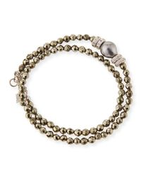 Armenta | Metallic New World Tahitian Pearl & Diamond Wrap Bracelet for Men | Lyst