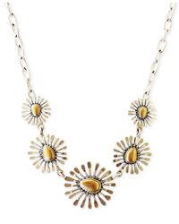Lucky Brand | Multicolor Two-tone Floral Collar Necklace | Lyst