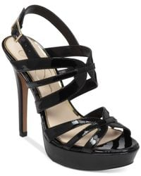 Jessica Simpson | Black Binnie Platform Evening Sandals | Lyst