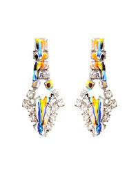 Tom Binns | Metallic Dipped Crystal Earrings | Lyst