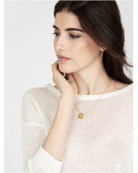 BaubleBar - Metallic Square Monogram Necklace - Lyst
