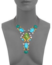 Alexis Bittar - Blue Turquoise Chalcedony Olmeca Bib Necklace - Lyst