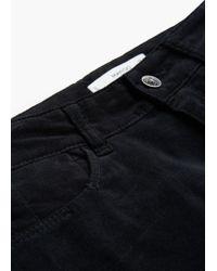 Mango - Black Super Skinny Velvet Trousers - Lyst