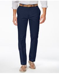 Alfani - Blue Big And Tall Flat-front Sateen Pants for Men - Lyst