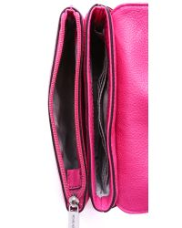 MICHAEL Michael Kors - Pink Bedford Double Gusset Cross Body Bag - Raspberry - Lyst