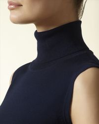 Jaeger - Blue Gostwyck Roll Neck Top - Lyst