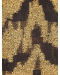 Roberto Cavalli - Yellow Zebra Print Scarf for Men - Lyst