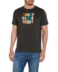 Paul Smith - Black Cycling Casquettes Graphic Crew Neck T-shirt for Men - Lyst