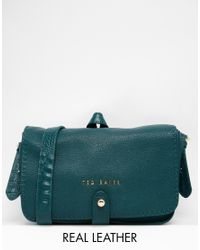 4f5cc2ef3 Lyst - Ted Baker Exotic Trim Stab Stitch Crossbody. in Green