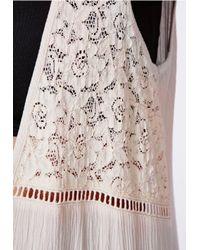 Missguided - Natural Diondra Crochet Detail Sleeveless Kimono Beige - Lyst