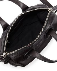 Givenchy - Black Nightingale Micro Waxy Leather Satchel Bag - Lyst