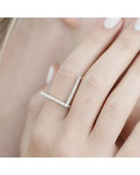 Myriamsos - Metallic The L Ring Silver & Diamond - Lyst