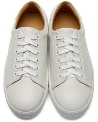 A.P.C. - White Leather Steffi Tennis Sneakers - Lyst