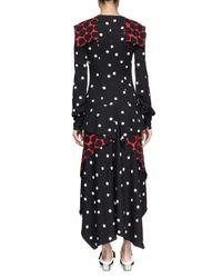 Proenza Schouler - Multicolor Long-Sleeve Multi-Print Georgette Midi Dress - Lyst