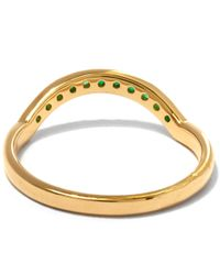 Anna Sheffield - Metallic Emerald And Gold Dusted Curve Ring - Lyst