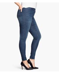 H&M - Blue + Treggings - Lyst