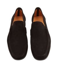 Saks Fifth Avenue | Brown Suede Moccasin for Men | Lyst