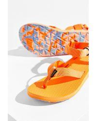 Teva - Orange Original Marbled Sandal - Lyst