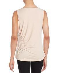 Calvin Klein | Pink Pleated Sleeveless Top | Lyst