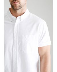 Forever 21 | White Short-sleeved Oxford Shirt for Men | Lyst
