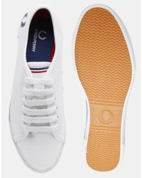 Stussy - White Phoenix Flatform Canvas Plimsoll Trainers - Lyst