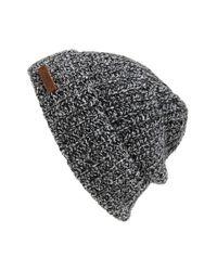Polo Ralph Lauren Gray Melange Knit Wool Blend Beanie for men