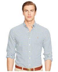 Polo Ralph Lauren - Green Checked Oxford Shirt for Men - Lyst