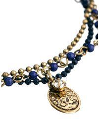 ASOS - Metallic Rosary Anklet - Lyst