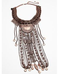 Free People | Pink Womens Exaggerated Fringe Collar | Lyst