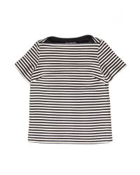 T By Alexander Wang - Gray Twisted Stripe Boatneck Top - Lyst