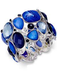 Style & Co. | Silver-tone Blue Stone Bracelet | Lyst