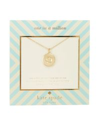 kate spade new york | Metallic One In A Million Letter O Pendant Necklace | Lyst