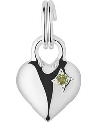 Links of London - Metallic Mini Heart Sterling Silver And Peridot Charm - Lyst