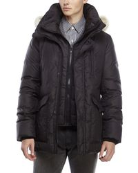 SOIA & KYO | Black Real Coyote Fur Hood Down Parka for Men | Lyst