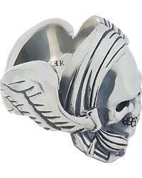 Undercover - Metallic Silver Winged Skull Ring for Men - Lyst