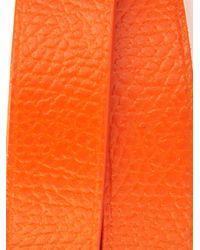 Valextra - Orange Leather Wrap Bracelet for Men - Lyst