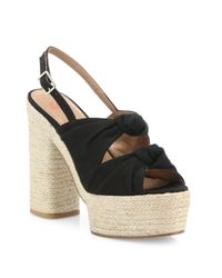 Castaner - Black Abbey Knotted Canvas Espadrille Platform Sandals - Lyst