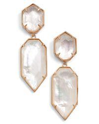 Kendra Scott - Pink 'perla' Drop Earrings - Lyst