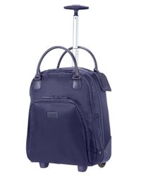 Lipault | Blue Nylon Twill Wheeled Carry-on | Lyst