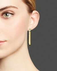 Roberto Coin   Metallic 18k Yellow Gold Plated Sterling Silver Hoop Earrings   Lyst