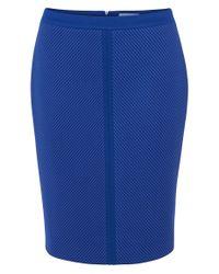 BOSS Blue Skirt In A Fabric Blend With Viscose: 'marlies'