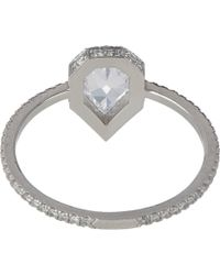 Eva Fehren - Multicolor Diamond & Platinum Solitaire - Lyst