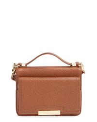 Vince Camuto | Brown 'small Mila' Crossbody Bag | Lyst