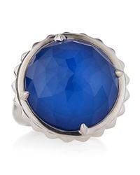 Stephen Webster - Blue Agate Crystal Haze Studded Spinning Ring - Lyst