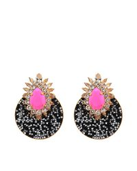 Shourouk - Pink Luna Earrings - Lyst