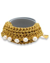Lucy Folk - Metallic Pearl Diver Gold Slap Band - Lyst